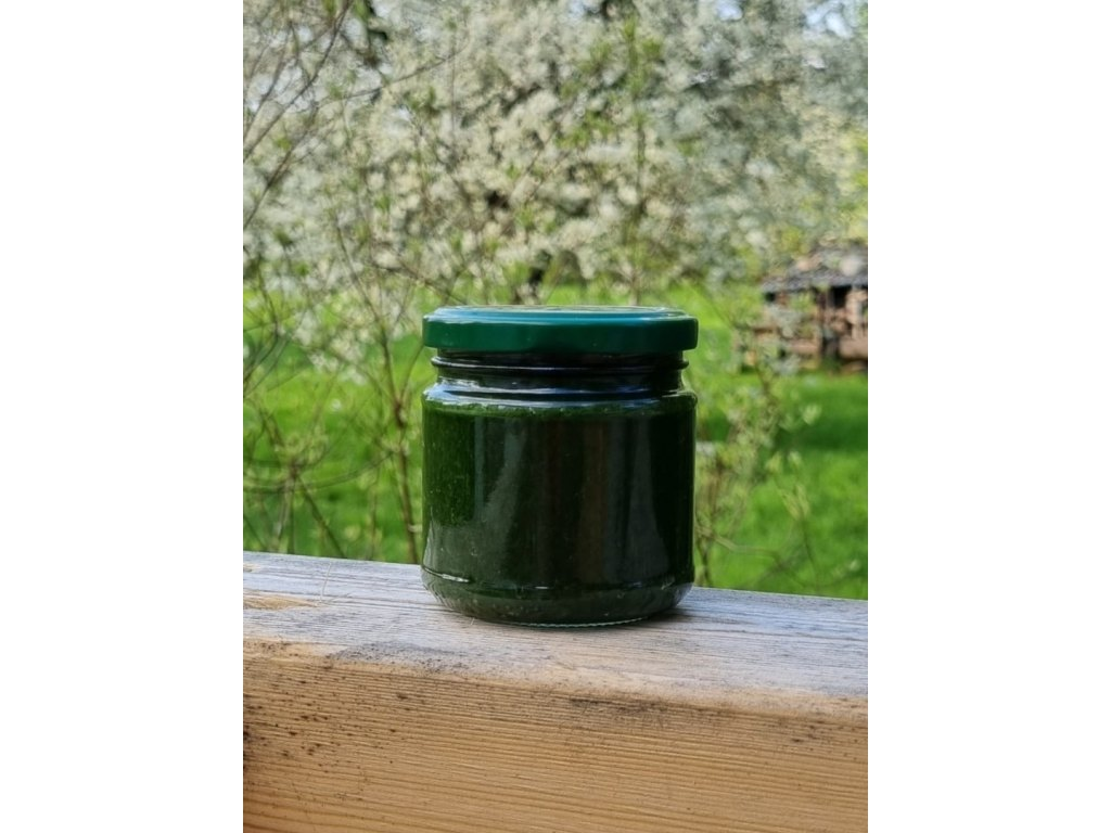 Pesto z czosnku niedźwiedziego parzonego olejem